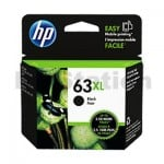 HP 63XL Genuine Black High Yield Inkjet Cartridge F6U64AA - 480 Pages