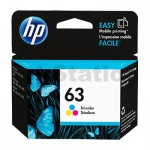 HP 63 Genuine [Tri Colour Pack] Inkjet Cartridge F6U61AA - 165 Pages