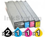5 Pack HP 970XL + 971XL Compatible High Yield Inkjet Cartridges CN625AA-CN628AA [2BK,1C,1M,1Y]