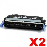 2 x HP Q6460A (644A) Compatible Black Toner Cartridge - 12,000 Pages
