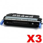 3 x HP Q6460A (644A) Compatible Black Toner Cartridge - 12,000 Pages