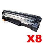 8 x HP CB435A (35A) Compatible Black Toner Cartridge - 2,000 Pages
