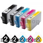 2 sets of 5 Pack HP 564XL Compatible Inkjet Cartridges CN684WA+CB322WA-CB325WA [2BK,2PBK,2C,2M,2Y]