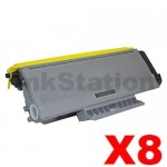 8 x Brother TN-3290 Black Compatible High Yield Toner Cartridge - 8,000 pages