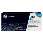 HP CE741A (307A) Genuine Cyan Toner Cartridge - 7,300 Pages