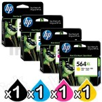 4 Pack HP 564XL Genuine Inkjet Cartridges CN684WA+CB323WA-CB325WA [1BK,1C,1M,1Y]