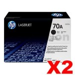 2 x HP Q7570A (70A) Genuine Black Toner Cartridge - 15,000 Pages