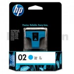 HP 02 Genuine Cyan Inkjet Cartridge C8771WA