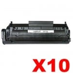 10 x HP Q2612A (12A) Compatible Black Toner Cartridge - 2,000 Pages