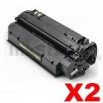 2 x HP Q2613X (13X) Compatible Black Toner Cartridge - 4,000 Pages
