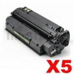 5 x HP Q2613X (13X) Compatible Black Toner Cartridge - 4,000 Pages