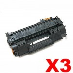 3 x HP Q5949A (49A) Compatible Black Toner Cartridge - 2,500 Pages