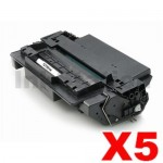 5 x HP Q7551X (51X) Compatible Black Toner Cartridge - 13,000 Pages