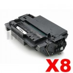 8 x HP Q7551X (51X) Compatible Black Toner Cartridge - 13,000 Pages