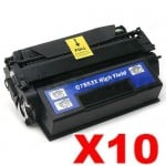 10 x HP Q7553X (53X) Compatible Black Toner Cartridge - 7,000 Pages