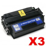 3 x HP Q7553X (53X) Compatible Black Toner Cartridge - 7,000 Pages
