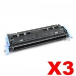 3 x HP Q6000A (124A) Compatible Black Toner Cartridge - 2,500 Pages