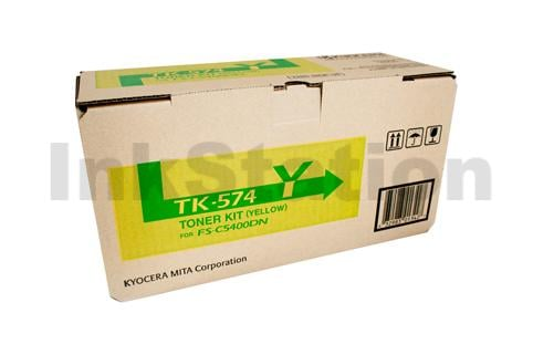 Genuine Kyocera TK-574Y Yellow Toner Cartridge FS-C5400DN, P-7035CDN - 12,000 Pages