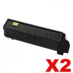 2 x Non-Genuine TK-554K Black Toner Cartridge For Kyocera FS-C5200DN - 7,000 pages