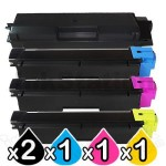 5 Pack Non-Genuine alternative for TK-594 Toner Cartridges suitable for Kyocera FS-C2026MFP, FS-C2126MFP, FS-C2526MFP, FS-C2626MFP, FS-C5250DN, M-6026CDN, M-6526CDN, P-6026CDN [2BK,1C,1M,1Y]