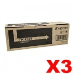 3 x Genuine Kyocera TK-1134 Black Toner Cartridge FS-1030MFP, FS-1130MFP - 3,200 pages