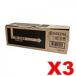 3 x Genuine Kyocera TK-1144 Black Toner Cartridge FS-1035, FS-1035MFP, FS-1135, FS-1135MFP, M-2535DN - 7,200 pages