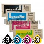 3 sets of 4 Pack Genuine Kyocera TK-594 Toner Cartridges FS-C2026MFP, FS-C2126MFP, FS-C2526MFP, FS-C2626MFP, FS-C5250DN, M-6026CDN, M-6526CDN, P-6026CDN [3BK,3C,3M,3Y]