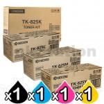 4 Pack Genuine TK-825 Toner Cartridges KMC-2520, KMC-2525, KMC-3225, KMC-3232, KMC-4035E [1BK,1C,1M,1Y]