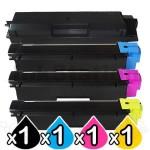 4 Pack Non-Genuine TK-5144 Toner Combo For Kyocera M-6030CDN, M-6530CDN, P-6130CDN [BK+C+M+Y]
