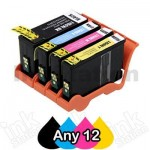 Any 12 Pack Lexmark No.150XL Compatible Ink High Yield Cartridges