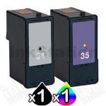 Lexmark No.34 & 35 (TPANZ22) Compatible Twinpack (18C0034 & 18C0035) [1BK,1CL]