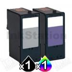 2 Pack Lexmark No.14 & No.15 (18C2090A & 18C2110A) Compatible Ink Cartridges (1BK,1CL)