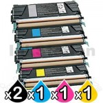 5 Pack Lexmark Compatible C522 / C524 / C532 / C534 Toner Cartridges - BK 4,000 pages & CMY 3,000 pages