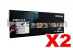 2 x Lexmark Genuine X203/ X204 Toner Cartridge X203A11G - 2,500 pages