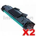 2 x Compatible Samsung  ML-1640 (MLT-D108S 108) Toner Cartridge SU785A - 1,500 pages