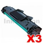 3 x Compatible Samsung  ML-1640 (MLT-D108S 108) Toner Cartridge SU785A - 1,500 pages