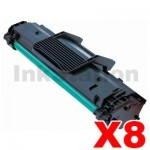 8 x Compatible Samsung ML-1640 (MLT-D108S 108) Toner Cartridge SU785A - 1,500 pages