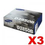 3 x Genuine Samsung ML-D2850B Black Toner Cartridge SU656A - 5,000 pages