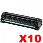 10 x Compatible Samsung ML1660 ML1665 ML1860 ML1865W Toner Cartridge SU748A - 1,500 pages (MLT-D104S 104)