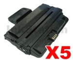 5 x Compatible Samsung ML-D2850B Black Toner Cartridge SU656A - 5,000 pages