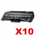 10 x Compatible Samsung ML-1915/2520/2525/2540/2540/2545/2580N/SCX-4623F (MLT-D105L 105L) Black Toner Cartridge SU768A - 2,500 pages