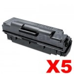 5 x Compatible Samsung ML5010ND Extra High Yield Toner Cartridge SV059A - 20,000 pages (MLT-D307E 307)