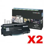 2 x Lexmark Genuine E120 E120n (12017SR) Toner Cartridge - 2,000 pages
