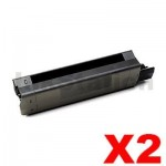 2 x OKI Compatible C5850/C5950/MC560 Black Toner Cartridge-8,000 pages (43865728)