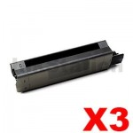 3 x OKI C5650, C5750 Compatible Black Toner Cartridge - 8,000 pages (43865712)