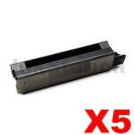 5 x OKI C5650, C5750 Compatible Black Toner Cartridge - 8,000 pages (43865712)