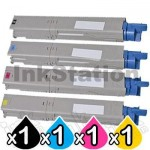 4 Pack OKI Compatible C3300/ C3400/ C3600 Toner Cartridges (43459312-43459355)