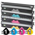 4 Pack OKI C110/C130n Compatible Toner Cartridges (44250705-44250708)
