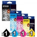 4 Pack Epson 252XL Genuine Ink Cartridge [C13T253192-C13T253492] [1BK,1C,1M,1Y]