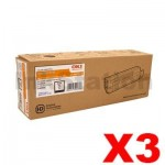 3 x OKI C5650, C5750 Genuine Black Toner Cartridge - 8,000 pages (43865712)